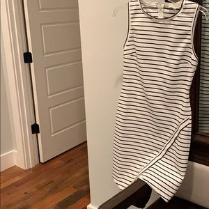 Adorable sugar lips striped dress with detail